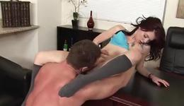 Red haired kinky chick is getting her fucked insanely hot